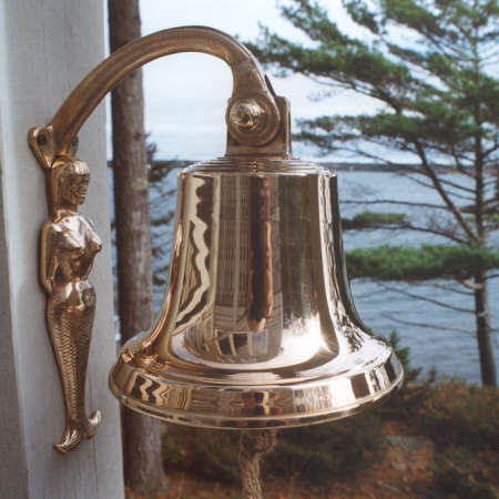Bronze mermaid bracket shown with M18 size ships bell