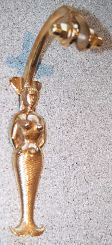 Mermaid Bell bracket best with our M17 and M18 size bells, made of pure bronze and hand tooled